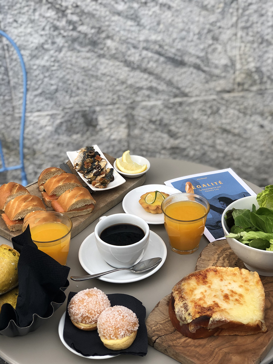 Egalite Milano menu brunch