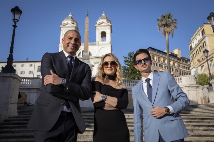 Hublot Roma Piazza di Spagna: la nuova boutique, l'evento con David Trezeguet e Carolina Crescentini