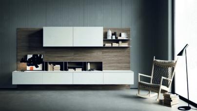 Librerie design da parete: trait d'union tra cucina e living, le proposte di Zampieri