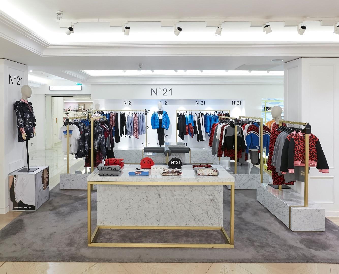 N21 Harrods pop-up store