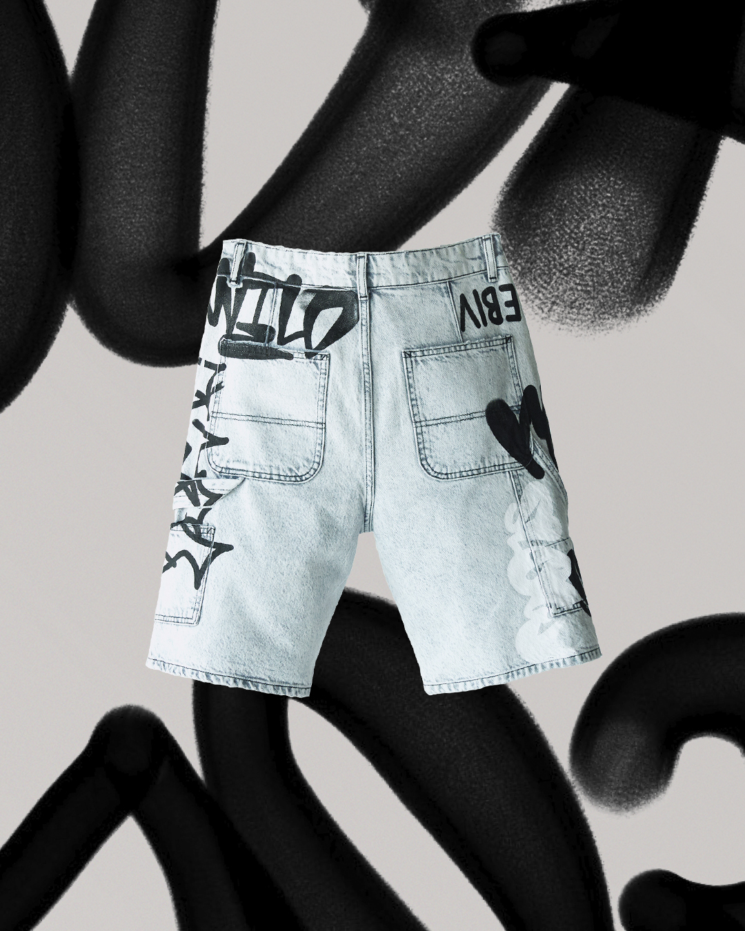 Bershka capsule Denim Graffiti