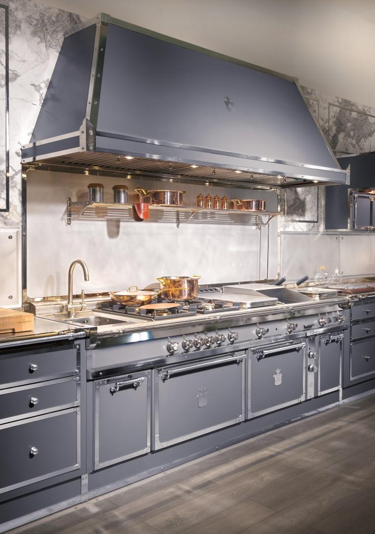 Officine Gullo cucine su misura | Steel Blue Grey Project | foto