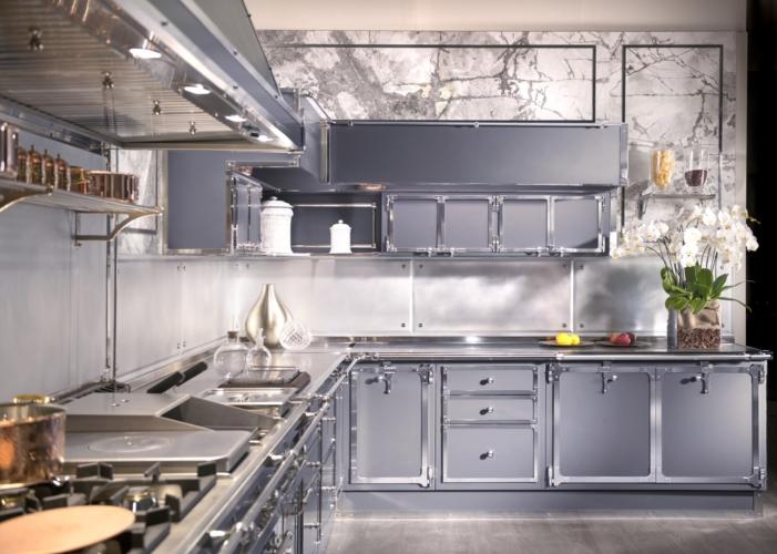 Officine Gullo cucine su misura: Steel Blue Grey Project, una cucina da chef
