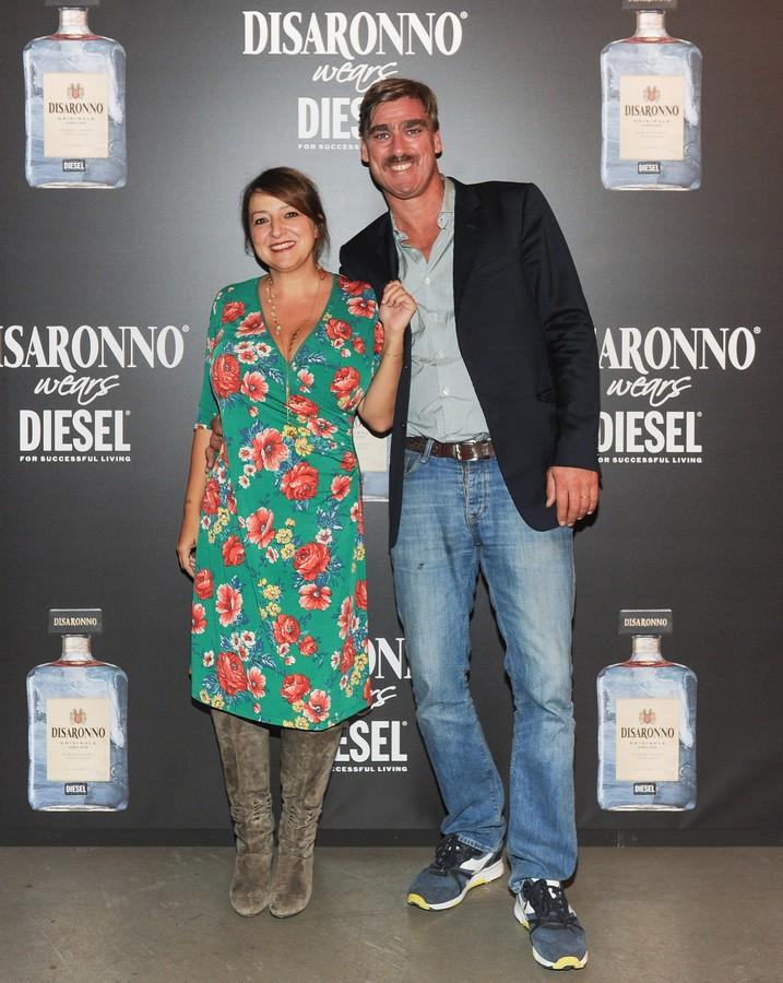Disaronno wears Diesel