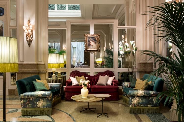Grand Hotel et de Milan Dimorestudio: tocchi di rosa, ruggine ed oro per il Gerry's bar