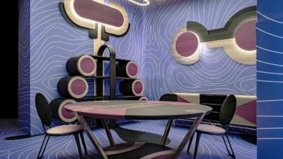 Salvioni Milano Durini: l'installazione Wood Waves di Elena Salmistraro