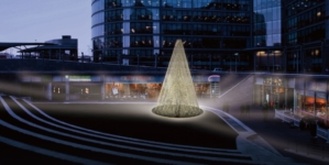 Paddington Central Londra: Tangent realizza l'installazione Chords of Light per Natale