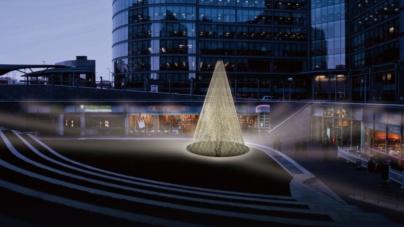 Paddington Central Londra: Tangent realizza l'installazione Chords of Light per Natale