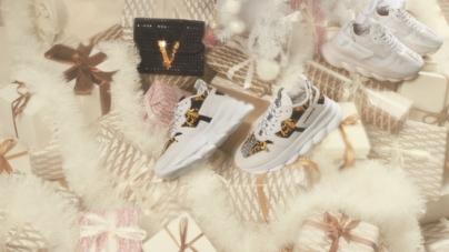 Versace collezione Natale 2019: Holiday Saga in collaborazione con Sarah Baker e Baroness
