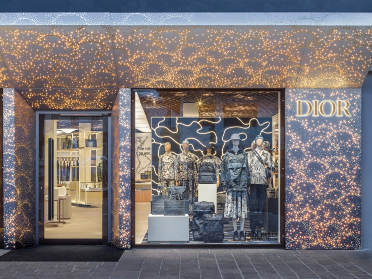Dior pop-up store Cortina