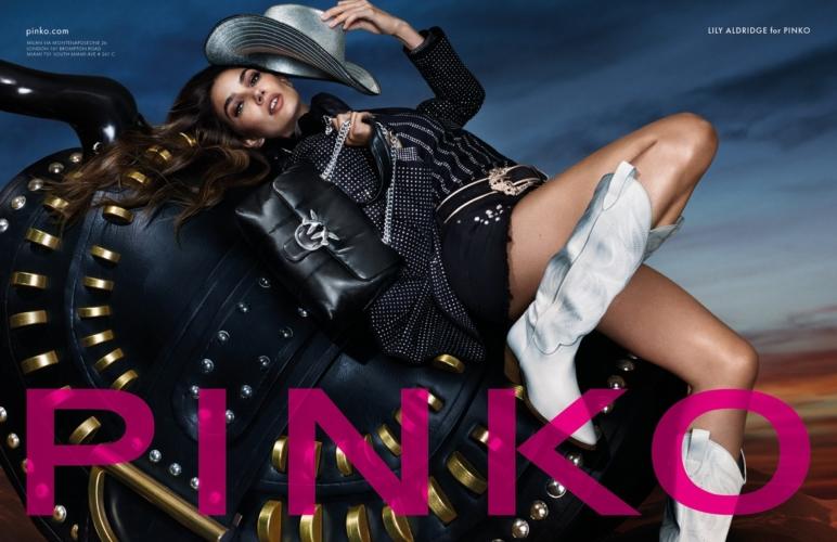 Pinko campagna primavera estate 2020: la femminilità glamour e rock