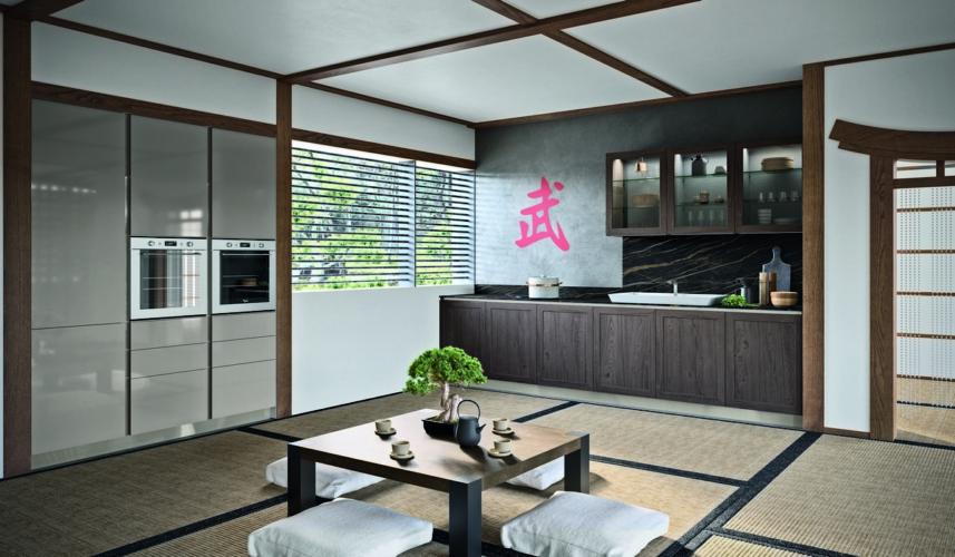 Rastelli cucine Fabula: essenziale e confortante semplicità orientale