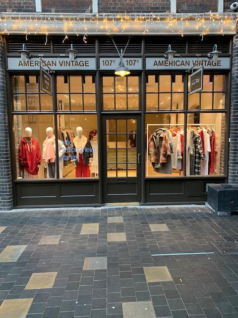 American Vintage boutique Londra