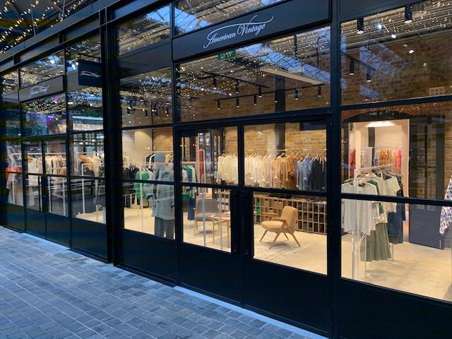 American Vintage boutique Londra: il nuovo store all'interno di Old Spitafields Market