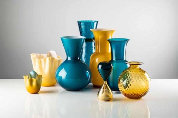 Venini collezione Art Glass 2020: nuovi contrasti cromatici