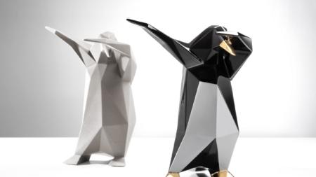 Animali ceramica Bosa 2020: il panda iper décor Bernardo e il pinguino Dab