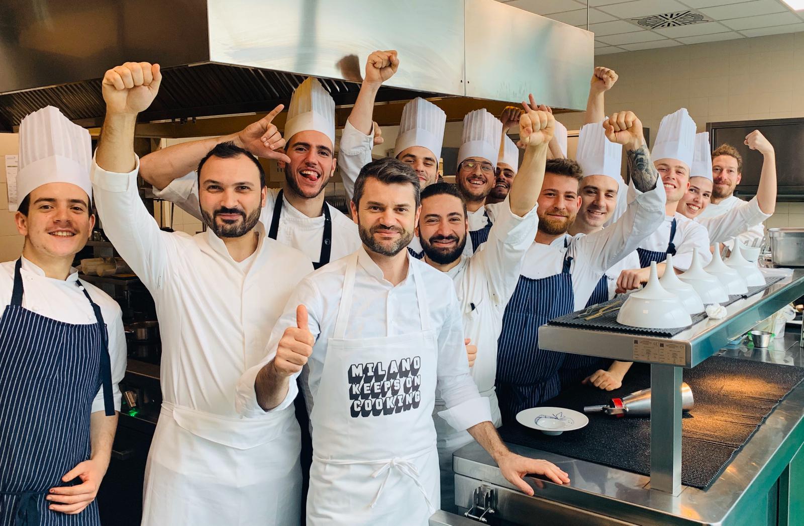 Coronavirus campagna Milano Keeps On Cooking
