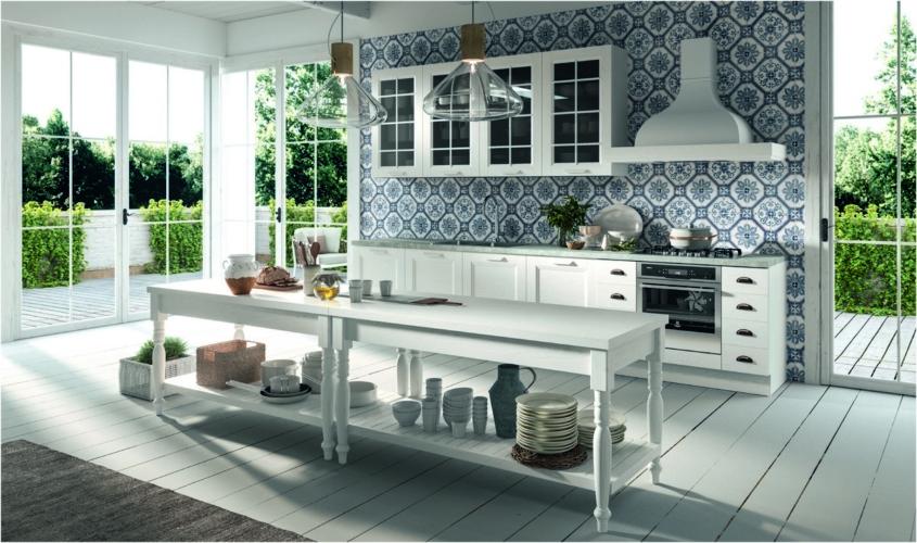 Cucina Ylenia Aran catalogo 2020: linee essenziali e dettagli classici