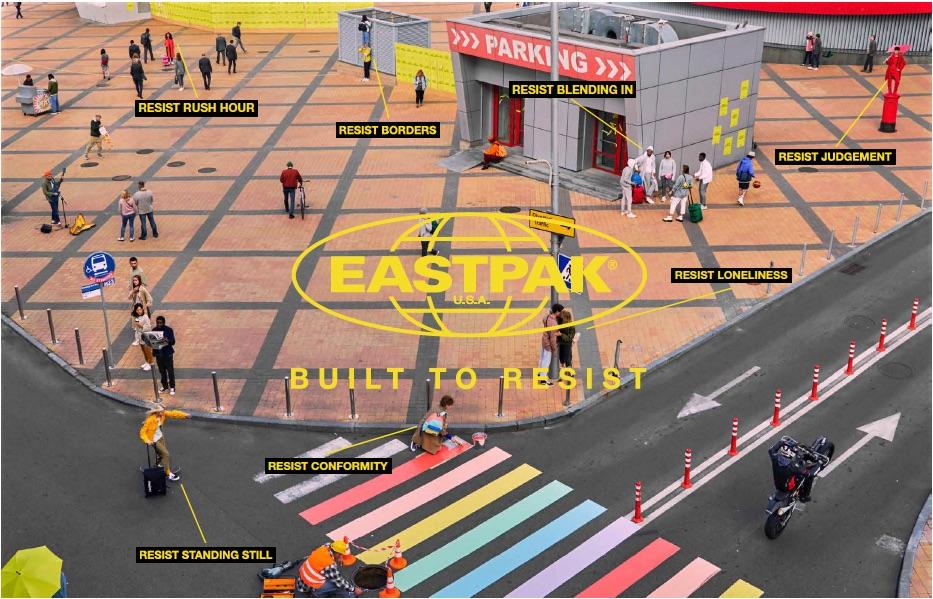 Eastpak campagna Built to Resist