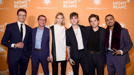 Montblanc cuffie MB 01: il party a New York con Hugh Jackman e Martha Hunt