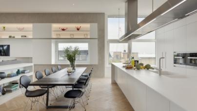Bermondsey Wall Penthouse Londra: Hi-Macs protagonista di una spettacolare attico