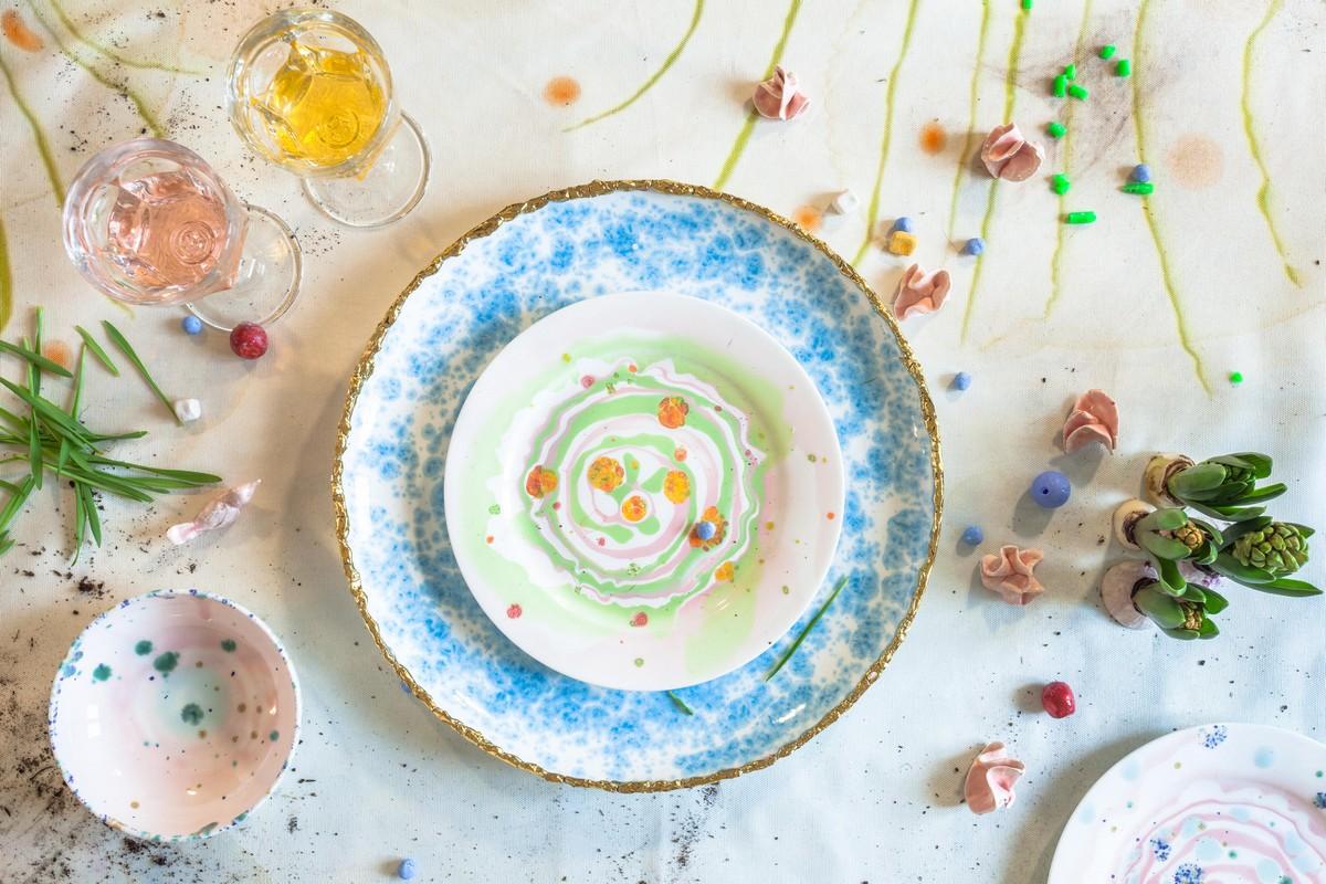 Coralla Maiuri servizi piatti ceramica