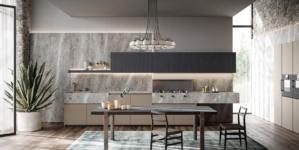 Zampieri Cucine Line 2020: raffinata componibilità per cucina e living coordinati