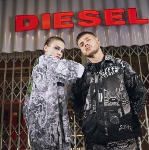 Diesel primavera estate 2020: grafiche, stampe e motivi all-over