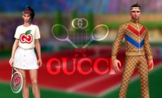 Gucci Tennis Clash: le tenute da gioco esclusive reali e virtuali