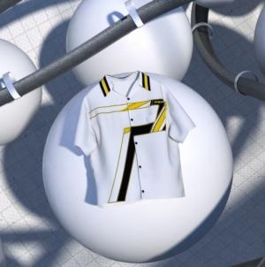 Prada Time Capsule Maggio 2020: la camicia con la stampa ispirata alle corse automobilistiche