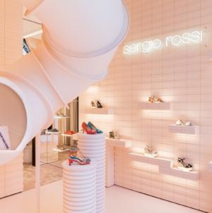 Sergio Rossi via Montenapoleone Milano: il digital pop-up store e la nuova shopping experience