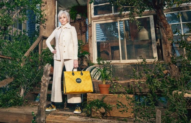 Gucci Off The Grid collezione sostenibile: la campagna con Jane Fonda, video e foto