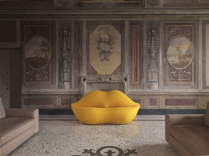 Gufram Bocca Unlimited: 25 nuovi colori per il 50 anniversario del divano icona