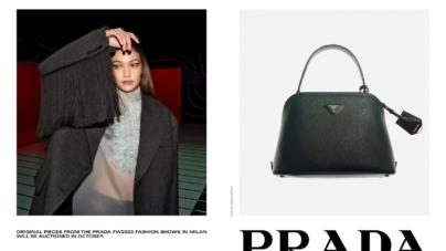 "Prada campagna autunno inverno 2020: ""Tools of Memory"" e l'asta online con Sotheby's"