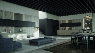 Zampieri cucine Axis 2020: nuovi dettagli e la novità living