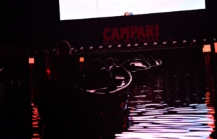 VENICE, ITALY - SEPTEMBER 08: General view at Campari Boat Cinema during 77 Venice Film Festival at  on September 08, 2020 in Venice, Italy. (Photo by Jacopo M. Raule/Getty Images for Campari)