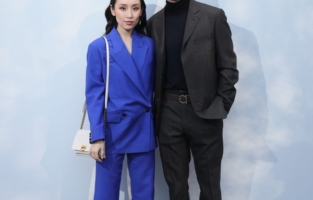 MILAN, ITALY - FEBRUARY 22: Olivia Sui and Sam Lerner attend the Salvatore Ferragamo show during during Milan Fashion Week Fall/Winter 2020/2021 on February 22, 2020 in Milan, Italy. (Photo by Victor Boyko/Getty Images for Salvatore Ferragamo)