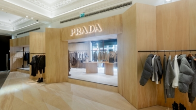 Prada pop-up store Harrods: Martino Gamper crea Prada Hideaway