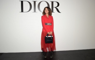 PARIS, FRANCE - SEPTEMBER 29: Lena Mafhouf attends the Dior Womenswear Spring/Summer 2021 show as part of Paris Fashion Week on September 29, 2020 in Paris, France. (Photo by Anthony Ghnassia/Getty Images for Dior)
