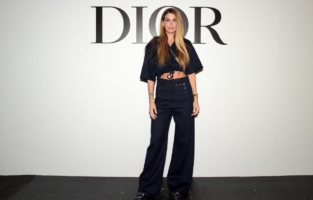 PARIS, FRANCE - SEPTEMBER 29: Bianca Brandolini attends the Dior Womenswear Spring/Summer 2021 show as part of Paris Fashion Week on September 29, 2020 in Paris, France. (Photo by Anthony Ghnassia/Getty Images for Dior)