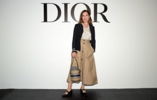PARIS, FRANCE - SEPTEMBER 29: Emmanuelle Devos attends the Dior Womenswear Spring/Summer 2021 show as part of Paris Fashion Week on September 29, 2020 in Paris, France. (Photo by Anthony Ghnassia/Getty Images for Dior)