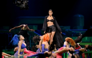 LOS ANGELES, CALIFORNIA - OCTOBER 2: In this image released on October 2, Irina Shayk is seen onstage during Rihanna's Savage X Fenty Show Vol. 2 presented by Amazon Prime Video at the Los Angeles Convention Center in Los Angeles, California; and broadcast on October 2, 2020. (Photo by Jerritt Clark/Getty Images for Savage X Fenty Show Vol. 2 Presented by Amazon Prime Video)