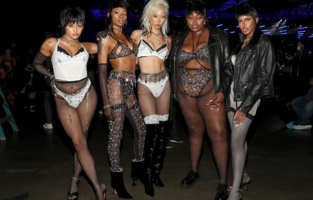 LOS ANGELES, CALIFORNIA - OCTOBER 2: (L-R) In this image released on October 2, Gabriette, Nicole Chanel, Soo Joo Park, Raisa Flowers, and Cayanita are seen backstage during Rihanna's Savage X Fenty Show Vol. 2 presented by Amazon Prime Video at the Los Angeles Convention Center in Los Angeles, California; and broadcast on October 2, 2020. (Photo by Jerritt Clark/Getty Images for Savage X Fenty Show Vol. 2 Presented by Amazon Prime Video)