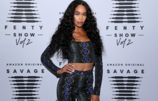 LOS ANGELES, CALIFORNIA - OCTOBER 2: In this image released on October 2, Laura Harrier attends Rihanna's Savage X Fenty Show Vol. 2 presented by Amazon Prime Video at the Los Angeles Convention Center in Los Angeles, California; and broadcast on October 2, 2020. (Photo by Jerritt Clark/Getty Images for Savage X Fenty Show Vol. 2 Presented by Amazon Prime Video)