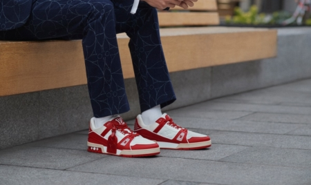 Louis Vuitton sneaker Trainer Red AIDS: le LV Trainer a sostegno della lotta all'AIDS