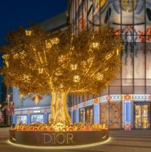 Dior vetrine Natale 2020: un viaggio incantato che sfavilla di mille colori