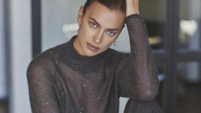 Regali Natale Falconeri 2020: Irina Shayk indossa il Cashmere Ultralight made in Italy