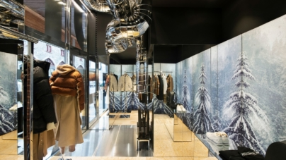 Burberry pop-up store Saint Moritz: il nuovo concept celebra la foresta alpina