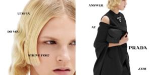 Prada campagna primavera estate 2021: il dialogo collettivo tra tecnologia e moda