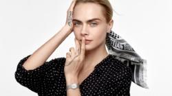 La D de Dior orologi: la nuova campagna con Cara Delevingne
